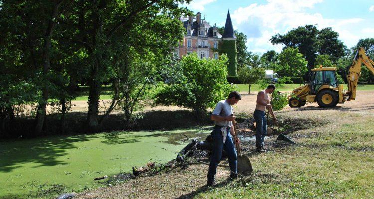 les travaux dans le parc