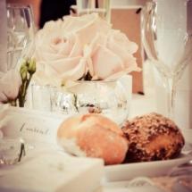 Fleurs de table mariages Château d Apigné près de Rennes
