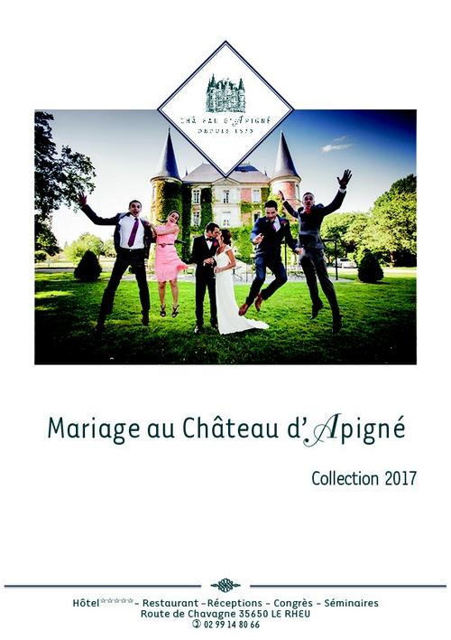 Carte mariage Château d'Apigné